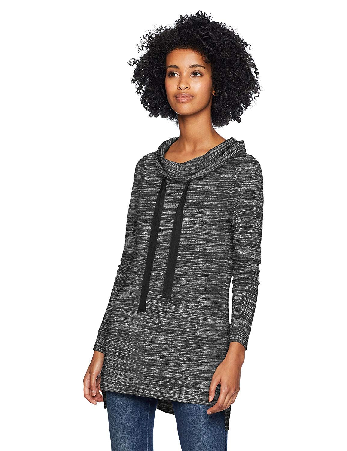 b57c0c3903f Daily Ritual Women's Supersoft Terry Funnel-Neck Tunic | tunic tops ...