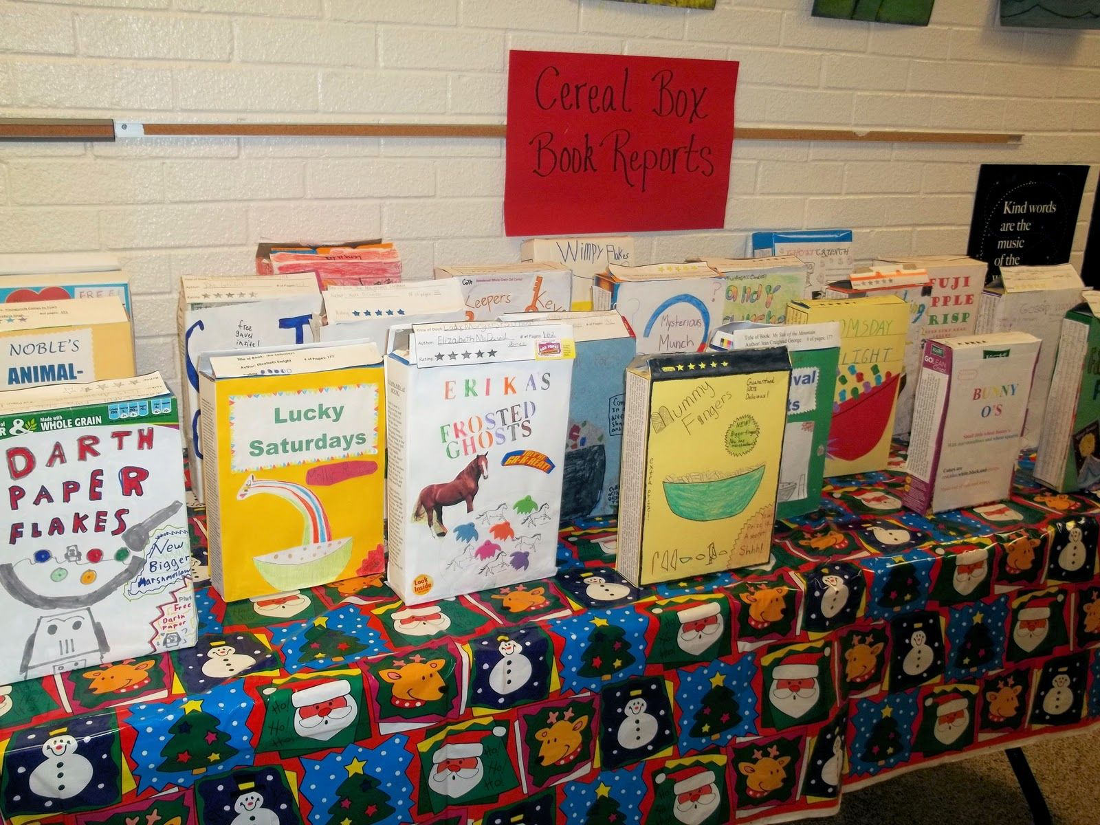 Cereal Box Book Reports | kids reading response activities ...