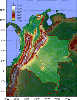 Andes Mountains On A Map
