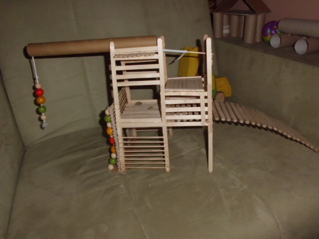 Popsicle stick playground for my rats Rat DIY things I