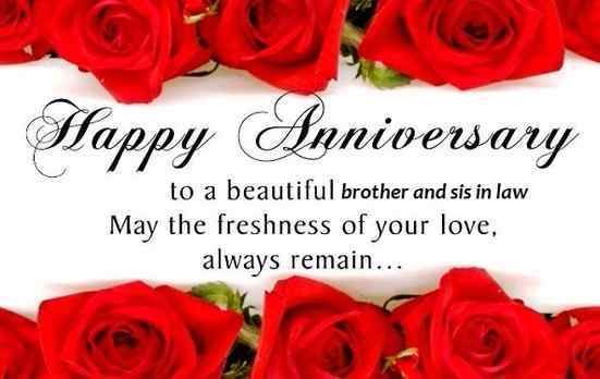 25th Wedding Anniversary Wishes For Brother And Sister In Law
