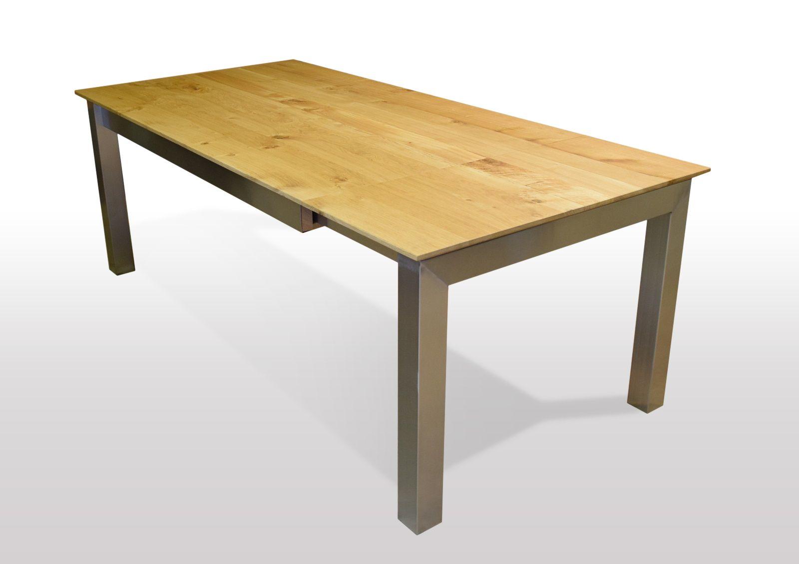 Tisch Wildeiche massiv Breite 120cm / Länge wählbar (mit