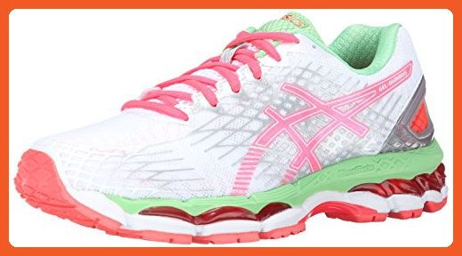 ASICS Women's Gel-Nimbus 17 Running Shoe,White/Hot Coral/Apple,7.5 M US - Athletic shoes for women (*Amazon Partner-Link)