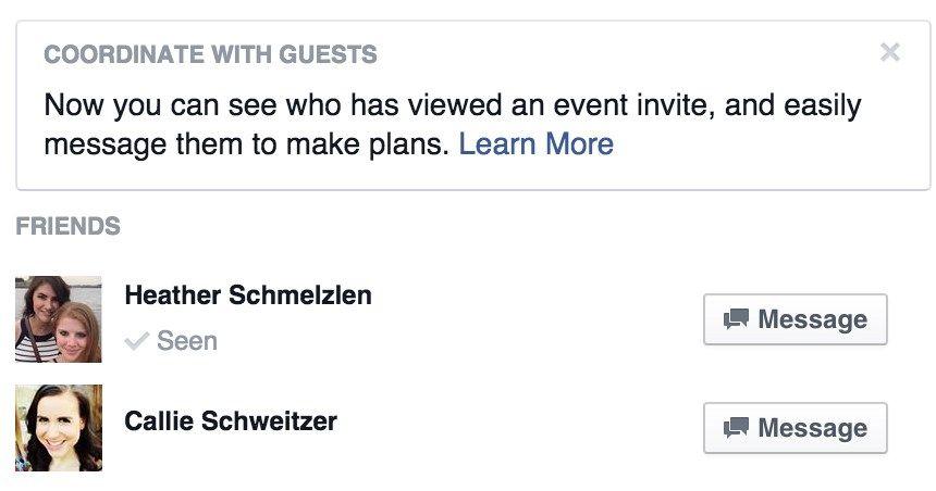 Facebook irá permitir verificar quem viu convite para evento