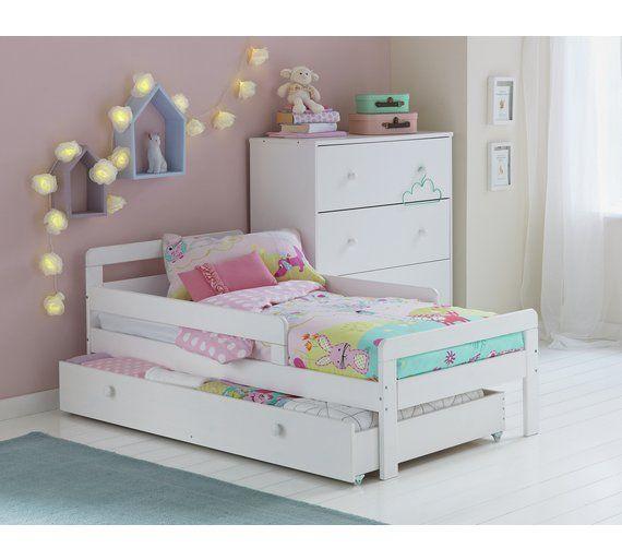 Buy HOME Ellis Storage Toddler Bed Frame White at Argoscouk