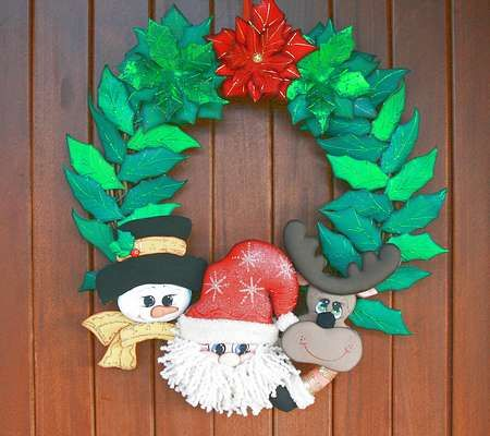 Corona navide a navidad christmas wreaths y halloween for Navidad adornos manualidades navidenas