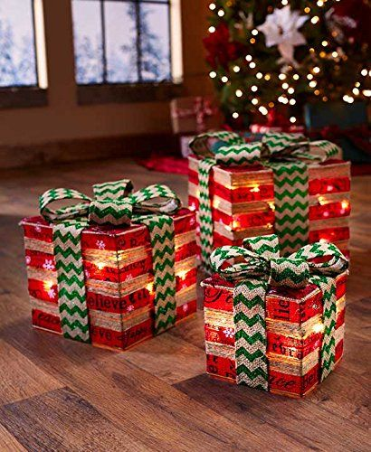 Lighted Christmas Gift Boxes - https://www.christmasshack.com/lighted - Lighted Christmas Gift Boxes ChristmasShack.com Pinterest