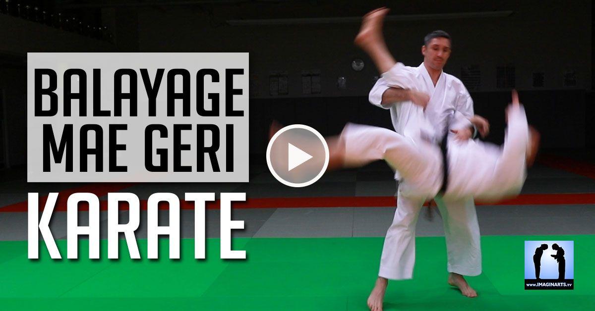 Balayage Sur Mae Geri Jeudi Karate Video Karate Shotokan Karate Arts Martiaux