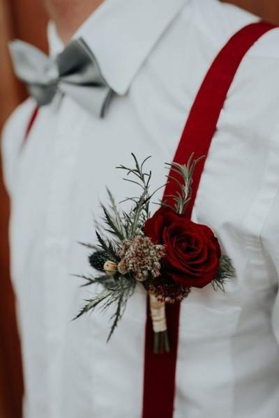 Winter Wedding Inspiration - Burgundy & Navy