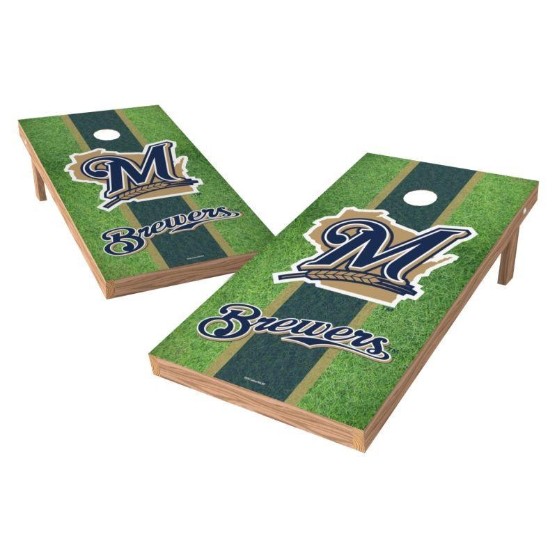 Wild Sports 2 X 4 Milwaukee Brewers Xl Tailgate Bean Bag Toss Shields