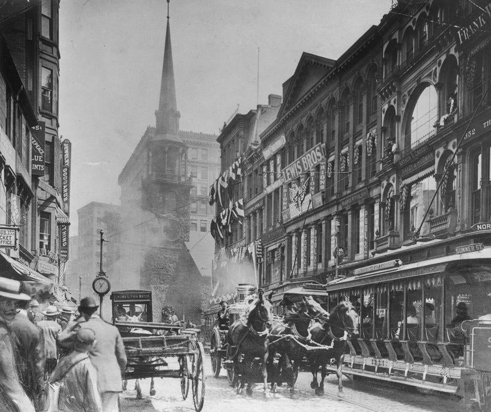 Washington Street in Boston The Boston Globe Boston