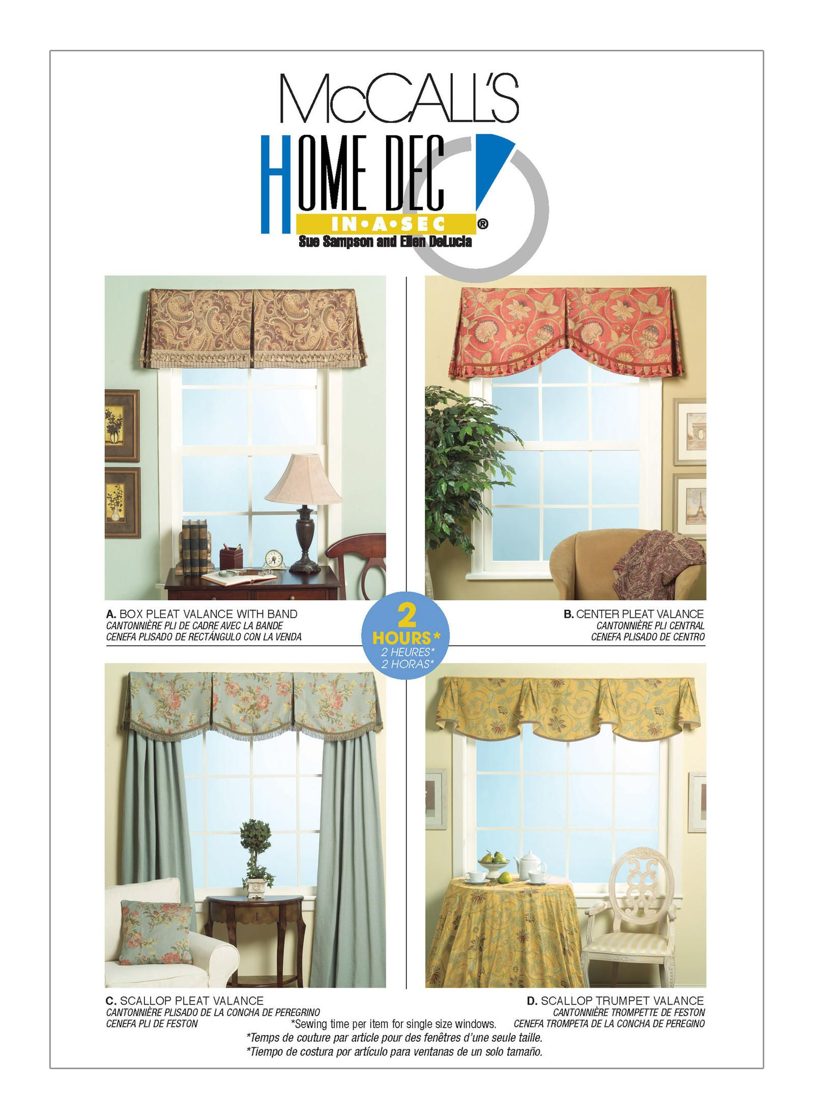 M5286 Mccall S Patterns Sewing Patterns Valance Patterns Valance Window Valance