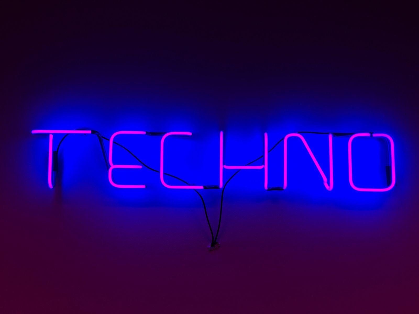 techno Neon signs, Techno, Michael