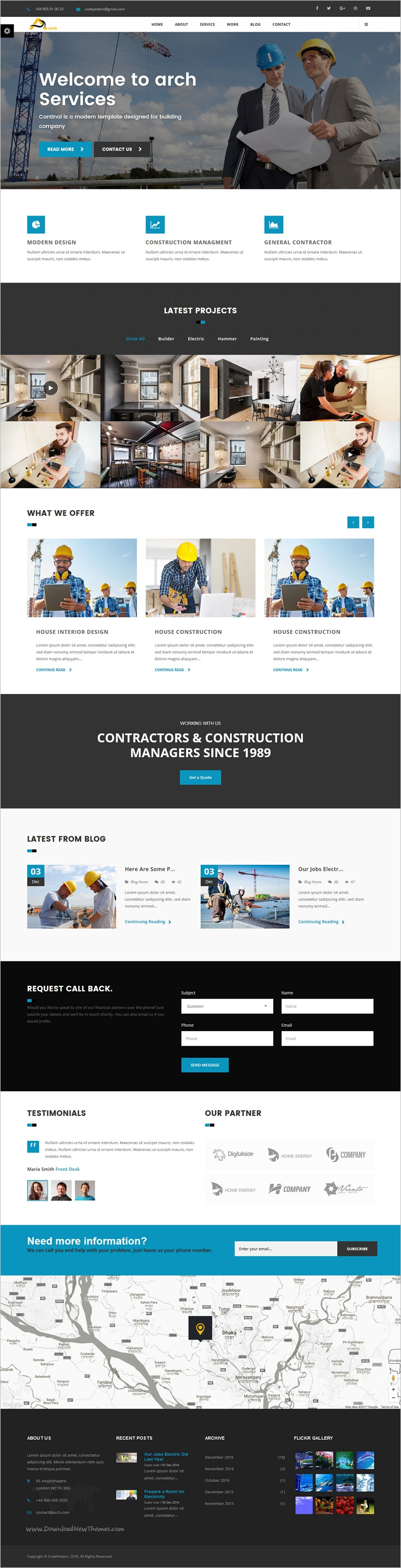 Arch - Construction, Building And Business Joomla! Template ...