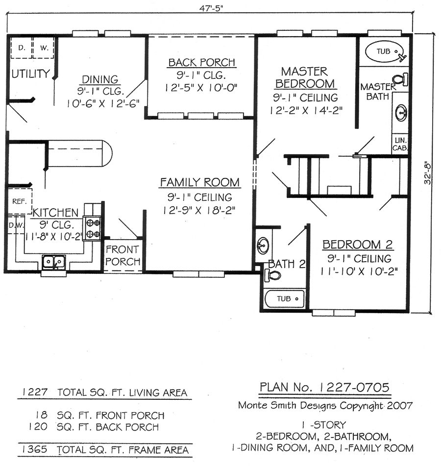 Back Porch Would Be My Sunroom. Two Bedroom House Plans Inspiration For The  Small House : Powerful Two Bedroom House Plans With Large Interior  Decoration ...