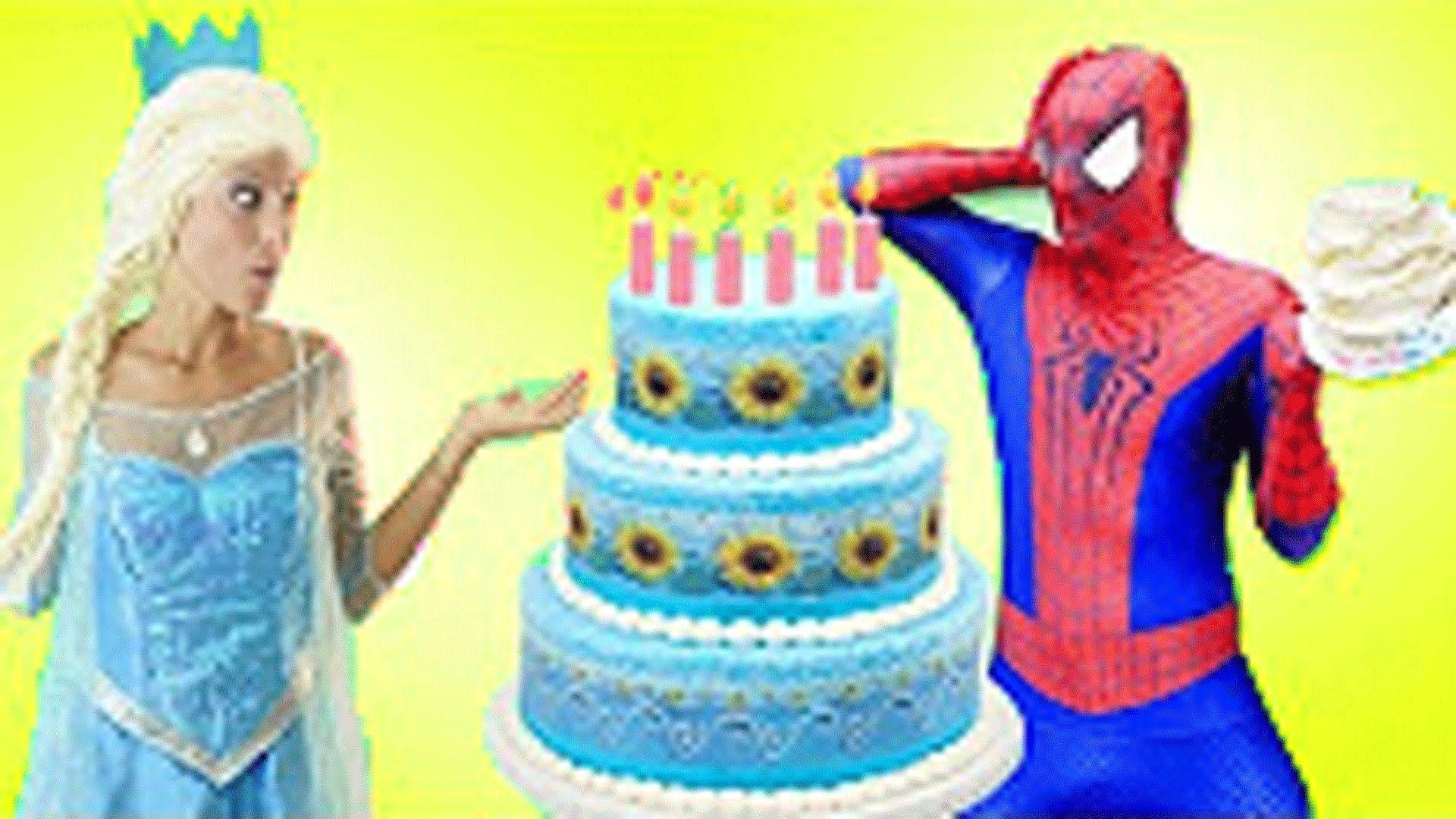 Spiderman Anna Elsa Frozen Birthday Maleficent vs Prank Baby
