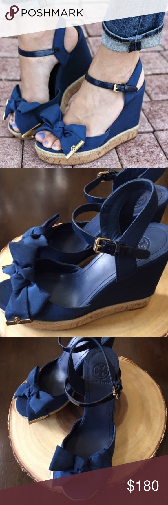 8ccf430c63a Tory Burch Penny Wedges NWT! Bought but never worn. My loss your gain!