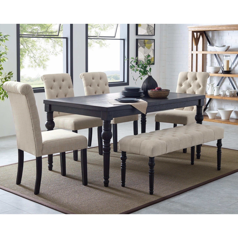 37++ Black dining table bench set Best