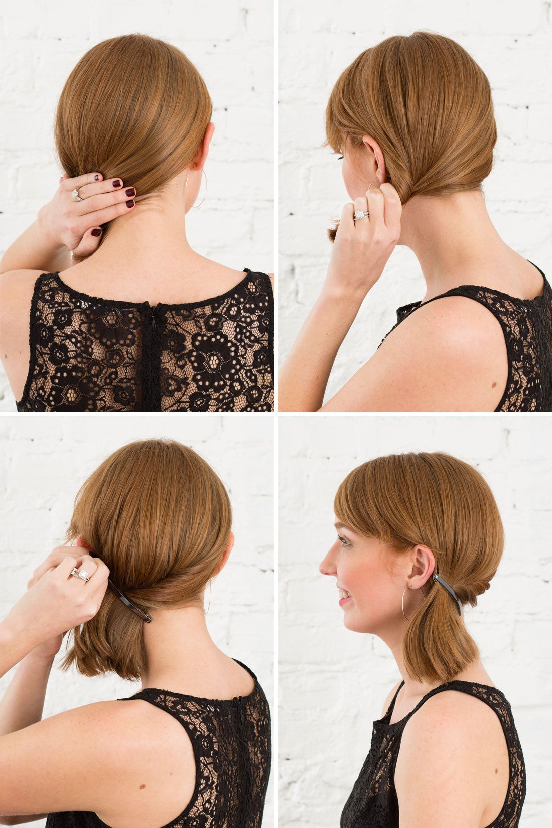 Barrette Hairstyles Diy A Low Asymmetrical Ponytail Using A Barrette Beauty From Brit