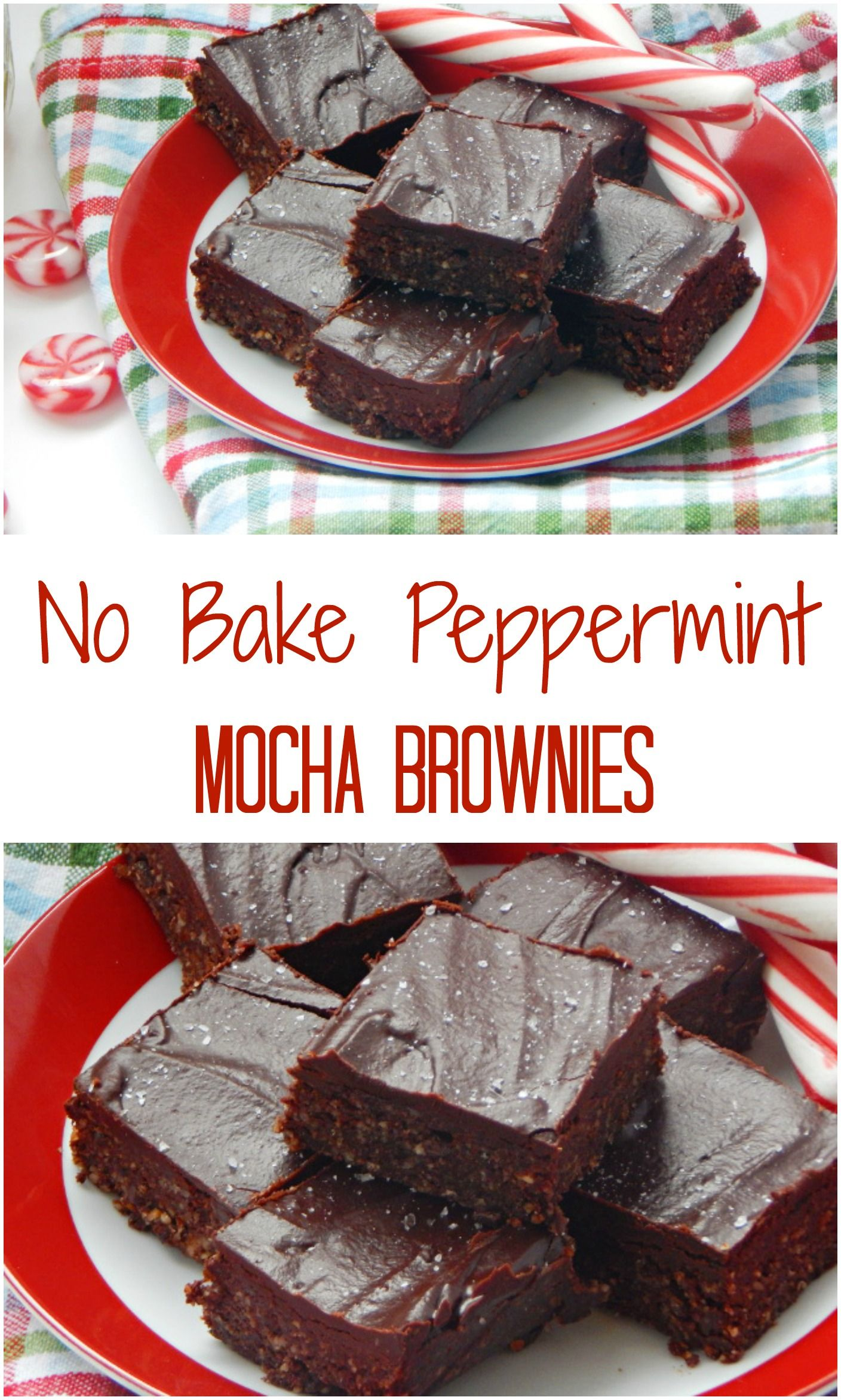 No Bake Peppermint Mocha Brownies. These brownies are so rich and fudgy but no one will know that they are actually healthy as well!