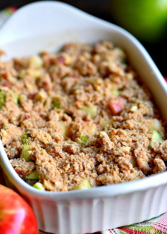 MakeAhead Apple Pie Cinnamon Roll Breakfast Bake Recipe