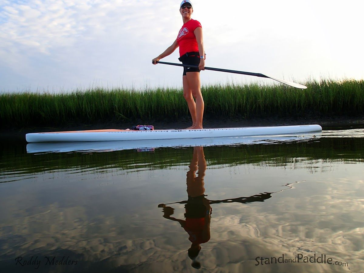 Chandler Bold's SUP Fitness Class in Shem Creek, Charleston, SC - paddleboard adventures with www.StandandPaddle.com