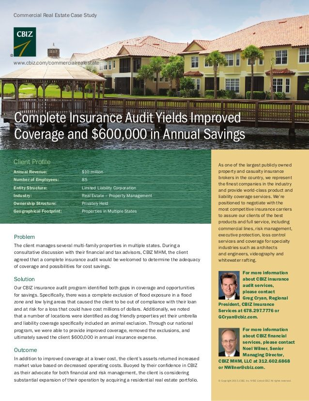 Complete Insurance Audit Yields Improved Coverage And 600 000 In