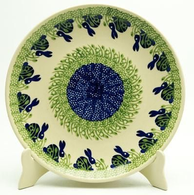 Dinner Plate (Bunny Love) High-Quality Polish Stoneware from the largest supplier in the western United States - The Polish Pottery Outlet in Englewood CO & 10\