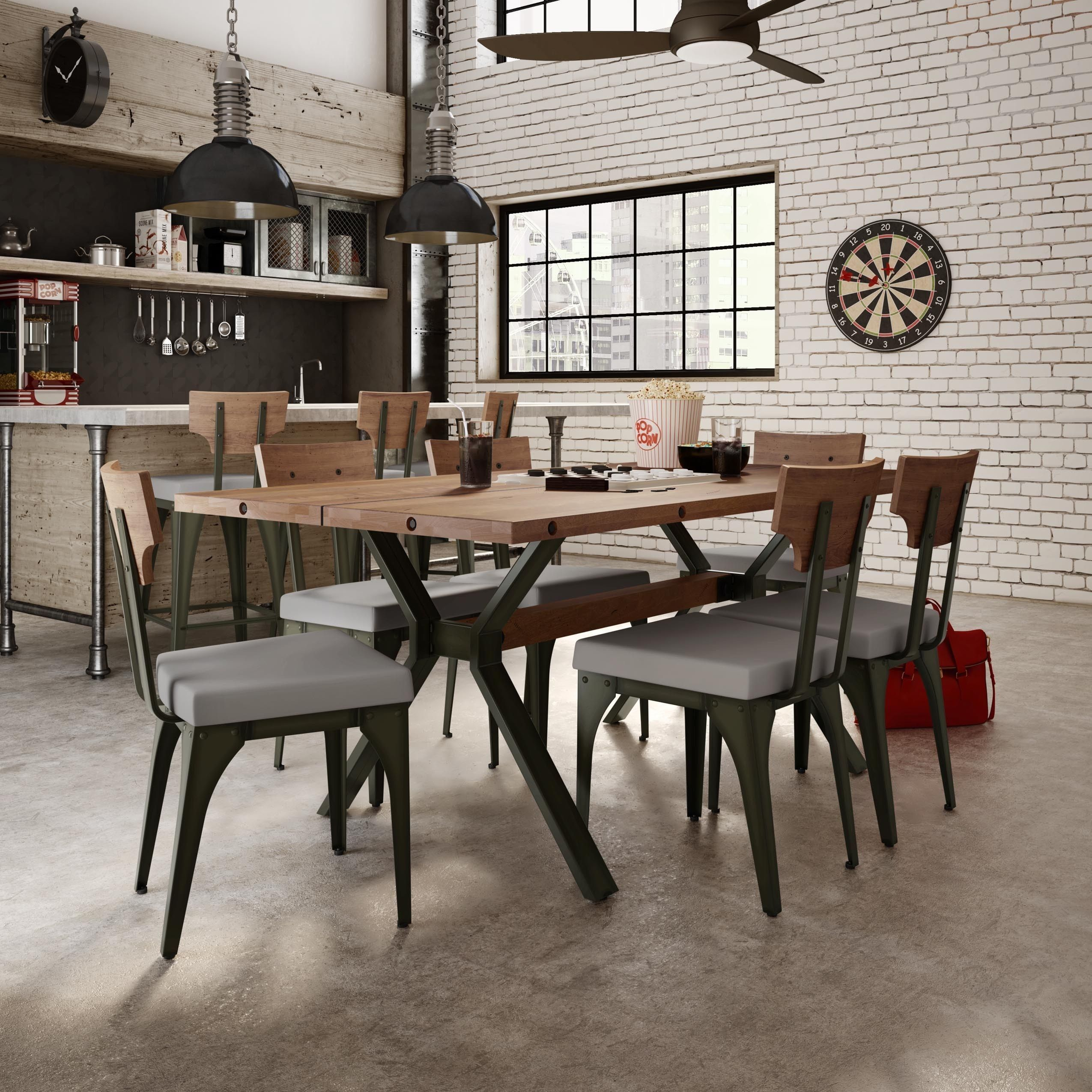 Carbon Loft Kettering Metal Wood Warm Grey Upholstered Chair