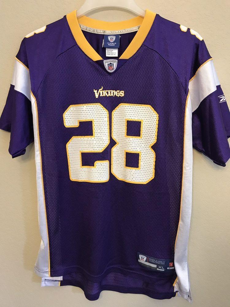 size 40 4c1c0 de307 Adrian Peterson Youth XL 18-20 Jersey Minnesota Vikings #28 ...