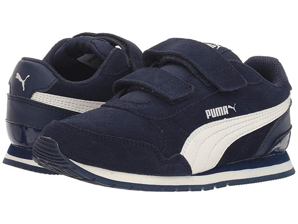 16b3260fff Puma Kids ST Runner v2 SD V (Little Kid) (Peacoat/Whisper White ...