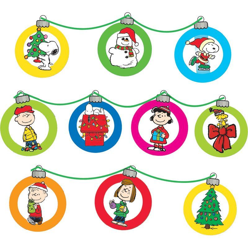 A Charlie Brown Christmas Happy Holidays Bulletin Board Set ...