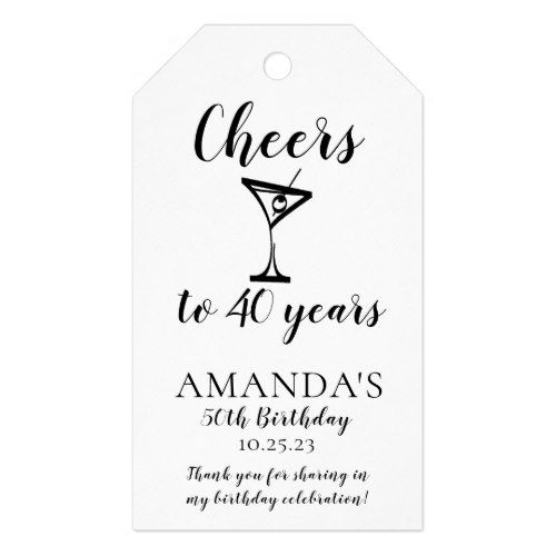 Cheers 40th Birthday Favor