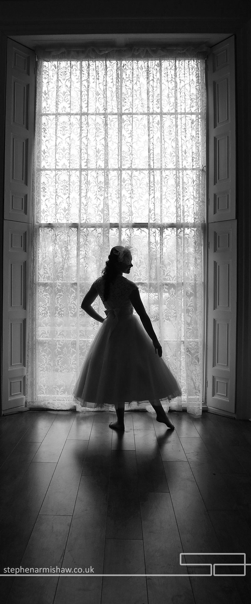 Atmospheric black and white at society weddings norwood house beverley by leading wedding photographer stephen armishaw