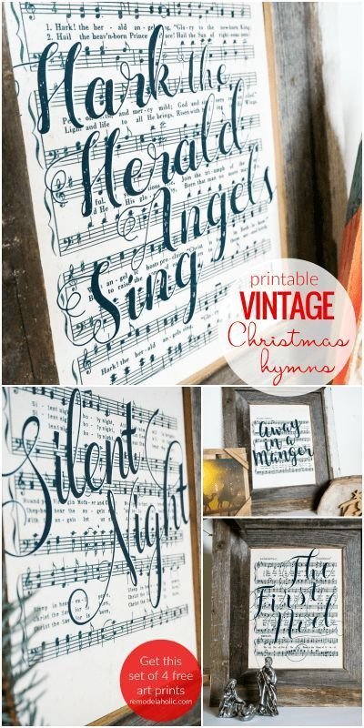 Free Farmhouse-Style Vintage Christmas Music Printable Art Set     christmasdiy #christmassigns #christmassongquotes #christmas2019 #christmasmusic #classicchristmassongs #countrychristmas #freechristmasprintables #freeprintables