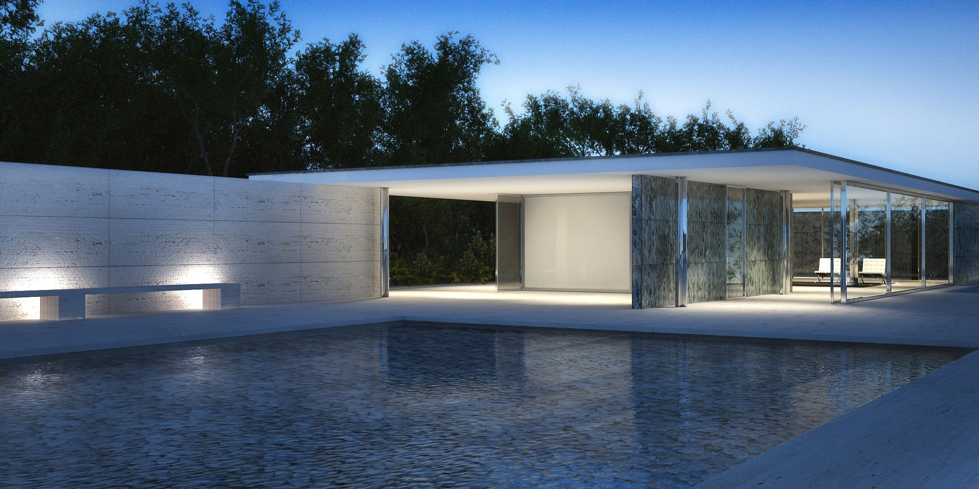 mies van der rohe barcelona pavilion architecture for non majors home spaces pinterest. Black Bedroom Furniture Sets. Home Design Ideas