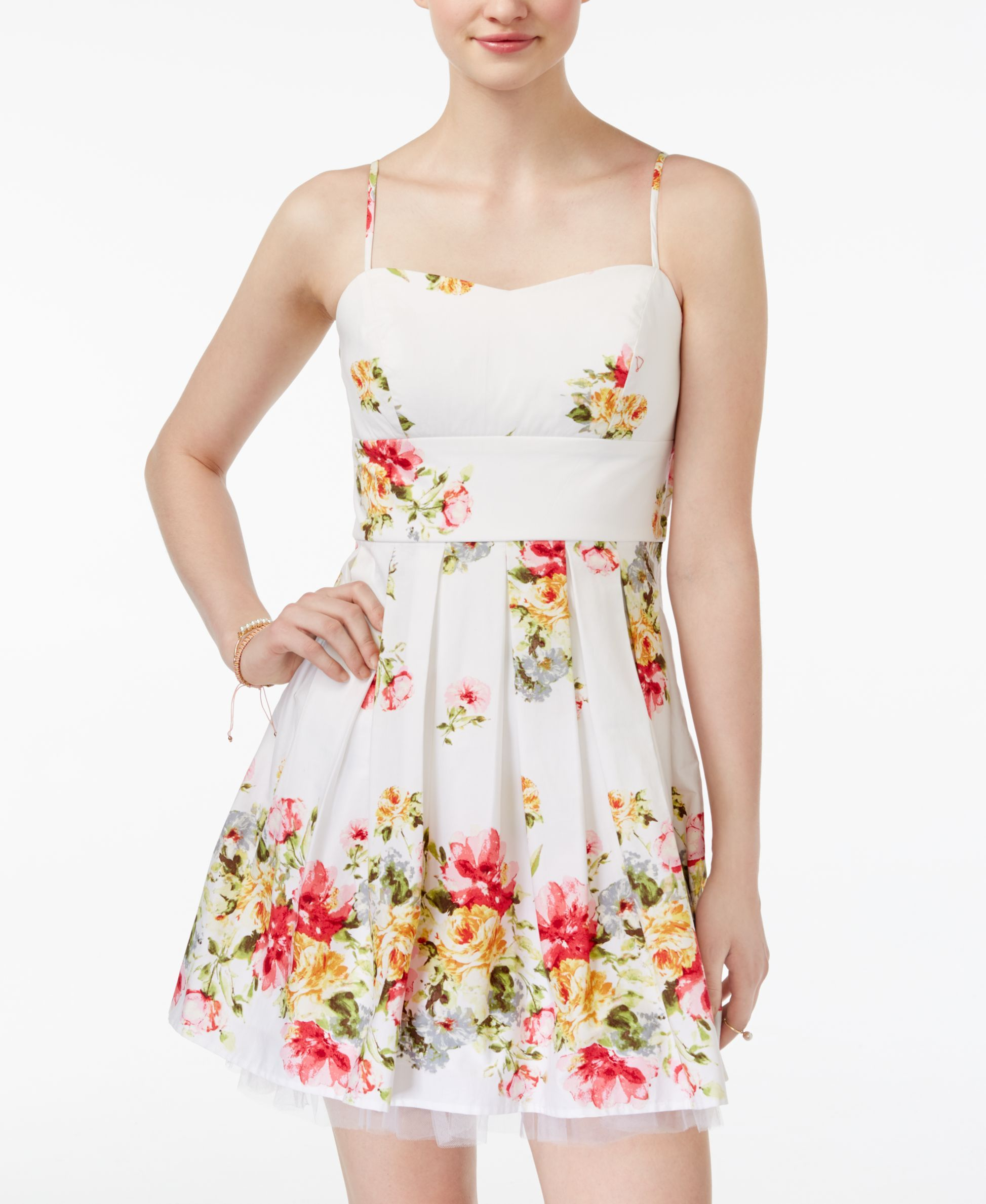 Emerald sundae juniorsu floralprint fit u flare dress products