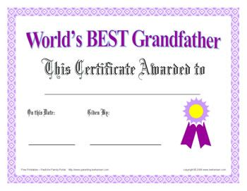 Worlds best grandfather certificate fathers day or any day worlds best grandfather certificate fathers day or yadclub Images