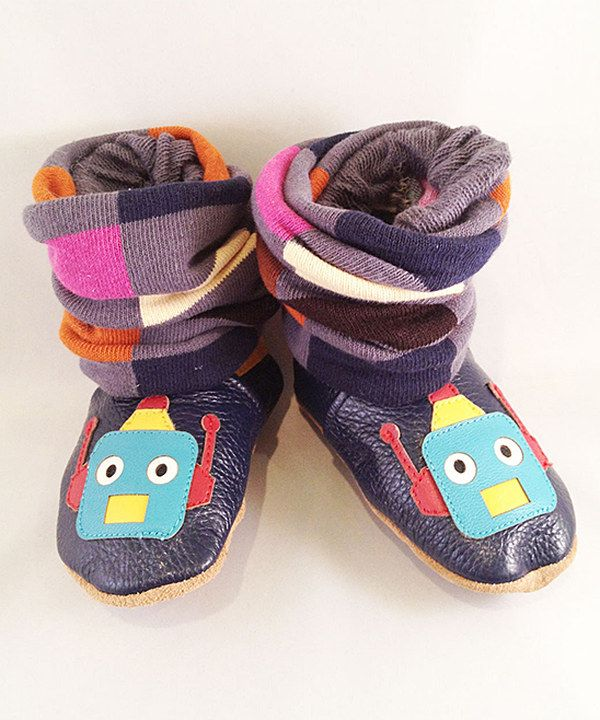 Take a look at this Augusta Baby Blue & Red Robot Bootie Legging Set on zulily today!