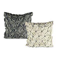 Felt Poinsettia Jewel Square Toss Pillow