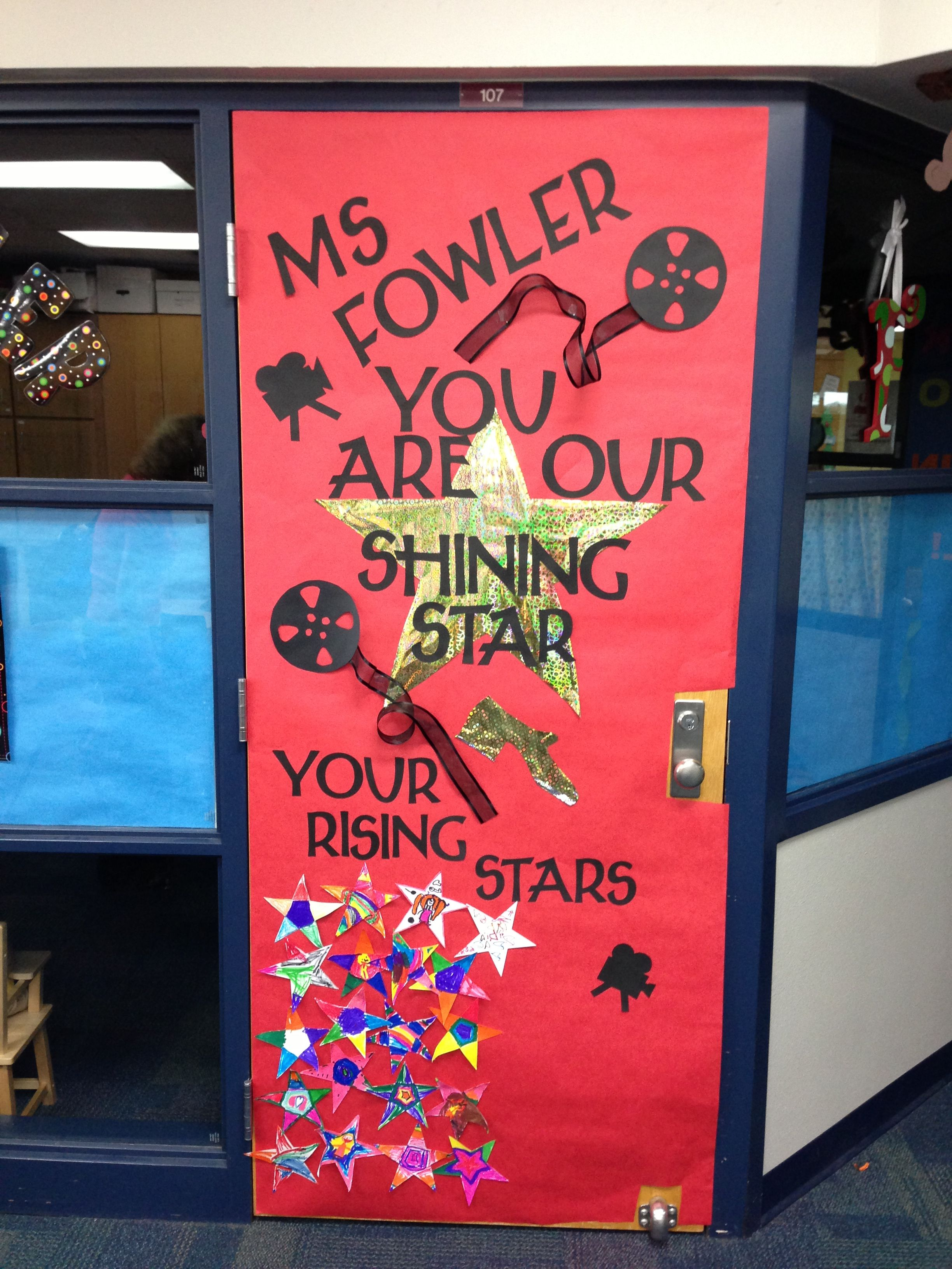 Classroom Decoration For Teachers Day ~ Teacher appreciation week door decoration movie star theme