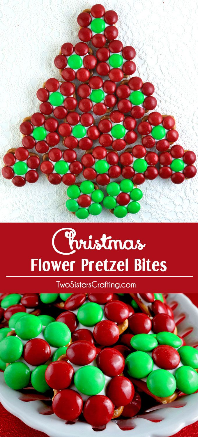 Christmas Flower Pretzel Bites  yummy bites of sweet and salty goodness that are perfect for this years Holiday Party Your party guests will love these unique and delicio...