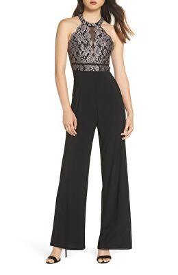 834796f5cc85 MORGAN   CO. Designer Embroidered Lace Jumpsuit