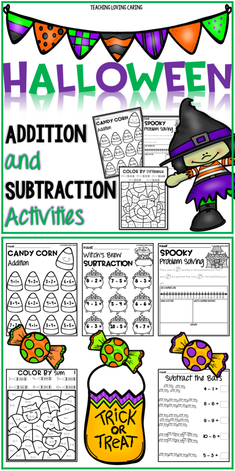 Halloween Math Worksheets Halloween Math Worksheets Halloween Math Subtraction Activities [ 1630 x 815 Pixel ]