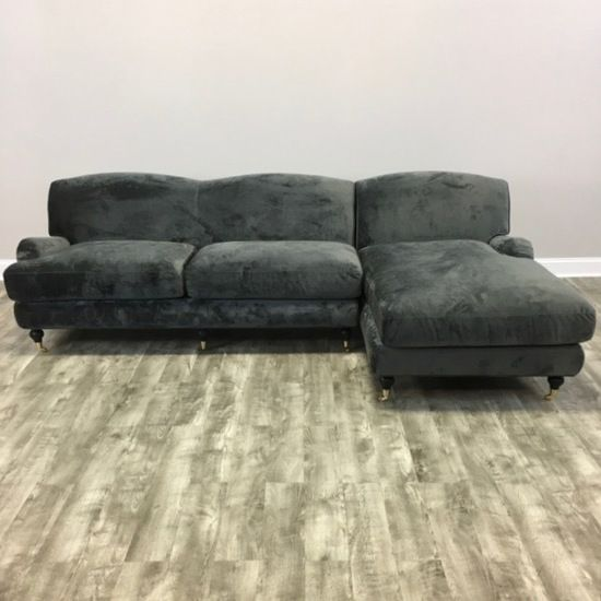Velvet Rolled Arm Sectional Sofa   Chicago, IL Https://www.marketsquarehome