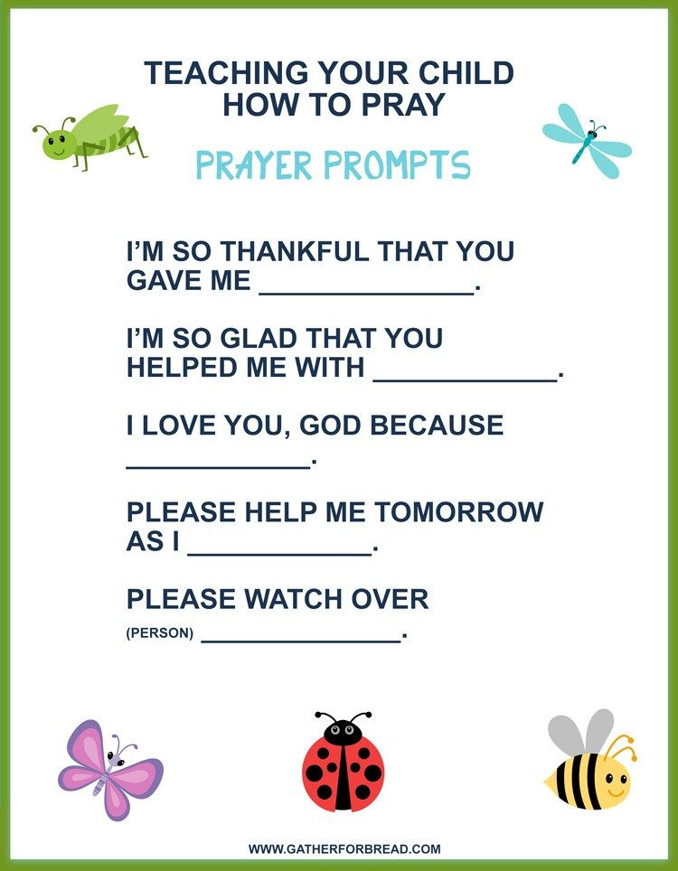 Teaching Your Child How to Pray - FREE PRINTABLE | Quotes, Laughs