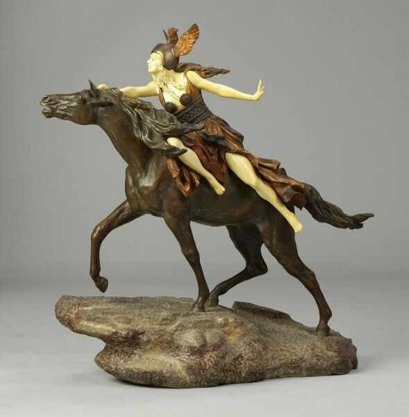 Claire Jeanne Roberte Colinet, Valkyrie,  Into the Unknown,  circa 1920