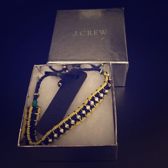 Moving Sale 🎉 J Crew Bracelet Brand new J. Crew yellow and blue bracelet includes the original box. Never worn. J. Crew Jewelry Bracelets