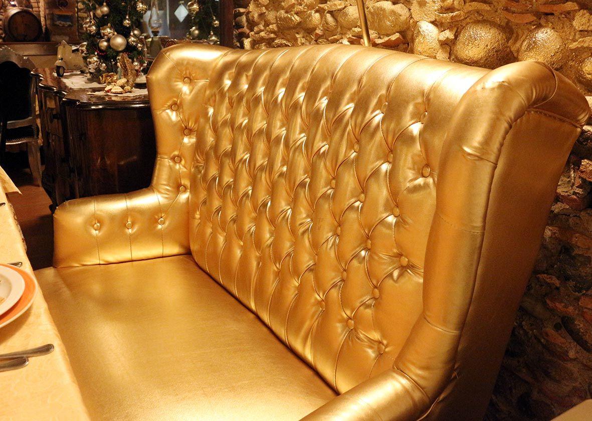 Divano barocco ~ Divanetto oro barocco contemporaneo alberti import export