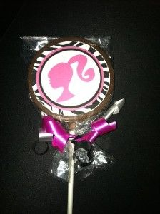 Barbie Lollipop Cookies | Wouldn't these be awesome Barbie party favors?! Yes, they would!